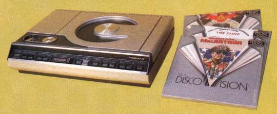 Model 8000 Magnavision Videodisc Player and discs