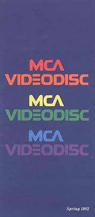 MCA VIDEODISC Spring 1982 Catalog Cover