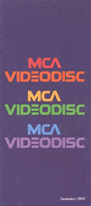 MCA VIDEODISC Summer 1982 Catalog Cover